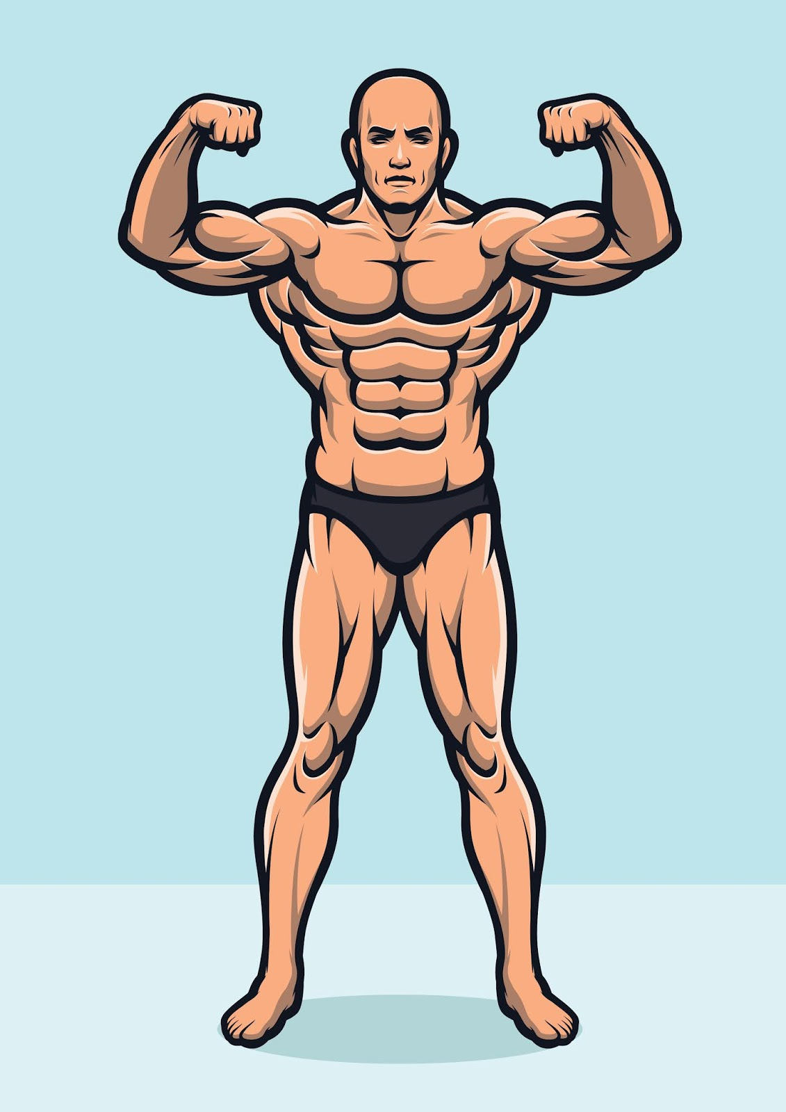 Strong Bodybuilder Full Body Version Free Download Vector CDR, AI, EPS and PNG Formats