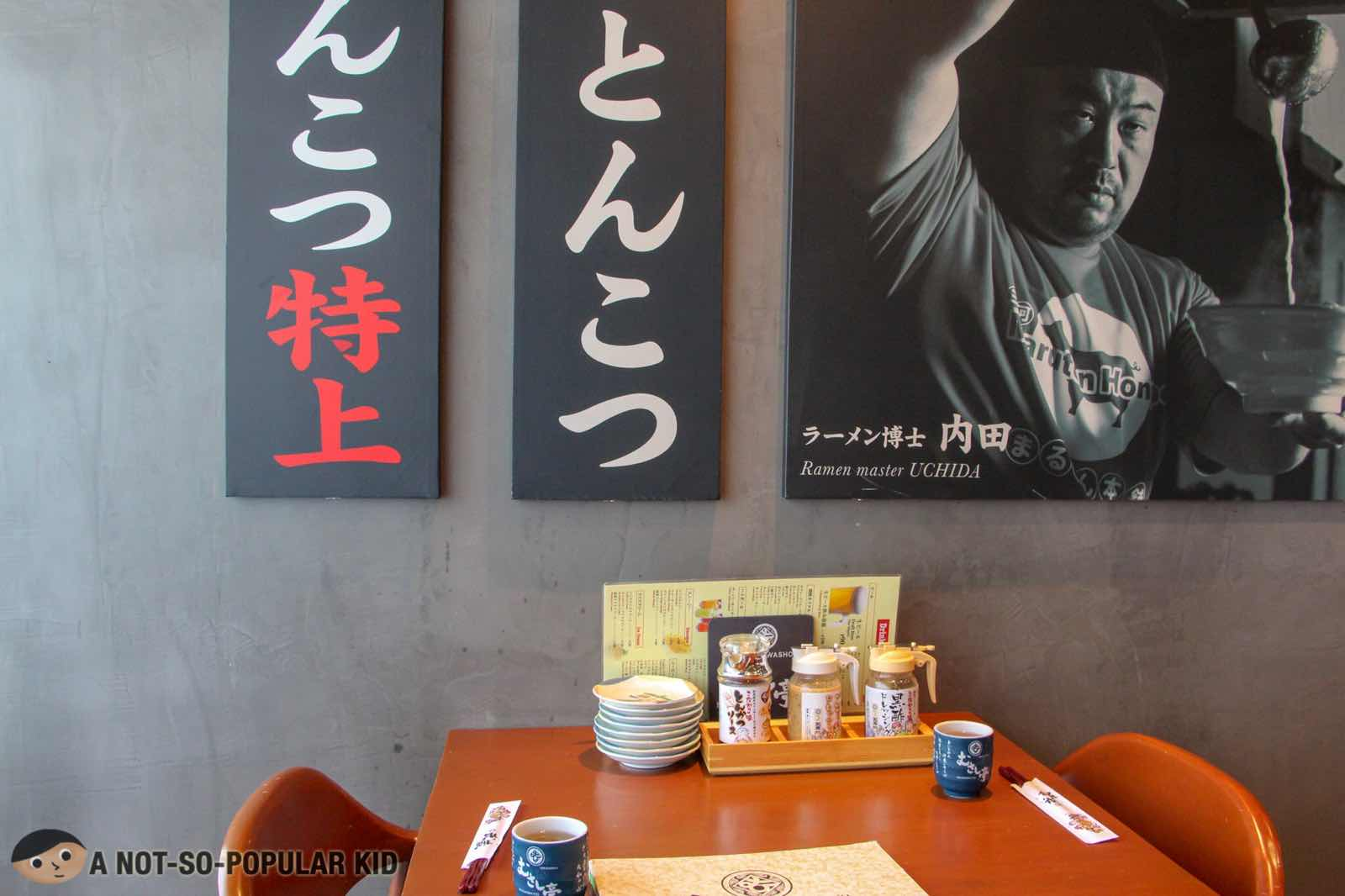 Dining area of Washoku Musashi-Tei, BGC