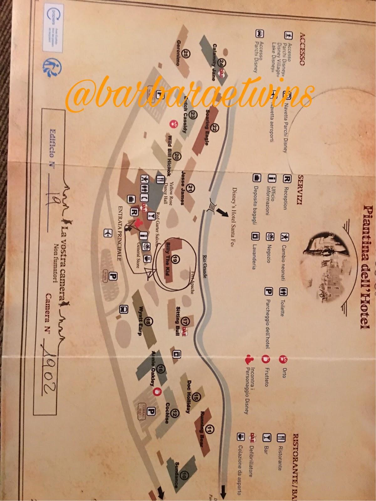 mappa hotel cheyenne disneyland paris