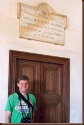 Bob at Washington Irving door
