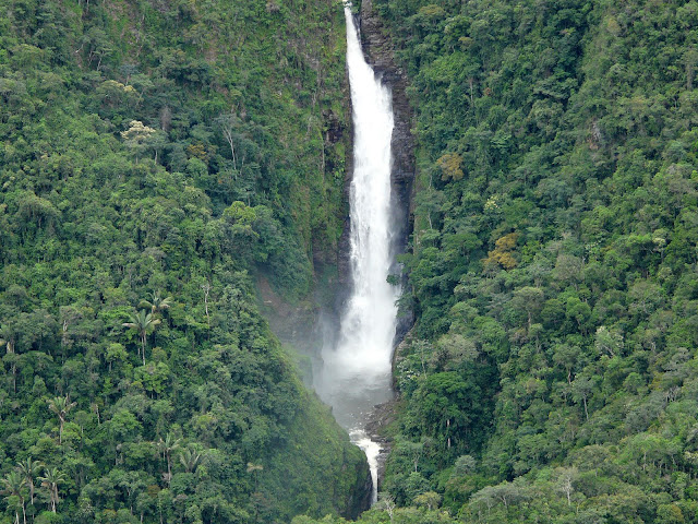 Cascade de Quijarro (alt. : 1100 m), près de Caranavi, Bolivie. 15 janvier 2008. Photo : J. F. Christensen