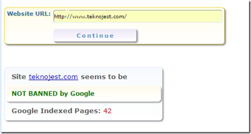 google-ban-kontrolü