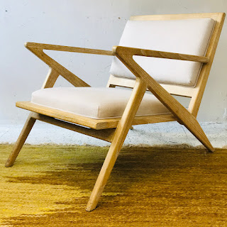 Contemporary Oak Lounge Chair