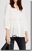 Mint Velvet Ivory brodrai blouse