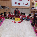Red Day Celebration by Nursery Morning Section at Witty World, Chikoowadi (2018 - 19)