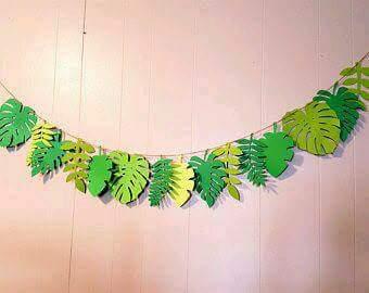 Como hacer hojas de helecho en papel - Plantillas para la pared ...
