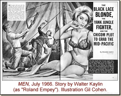 12 - MEN, July 1966. Walter Kaylin story, Gil Cohen art