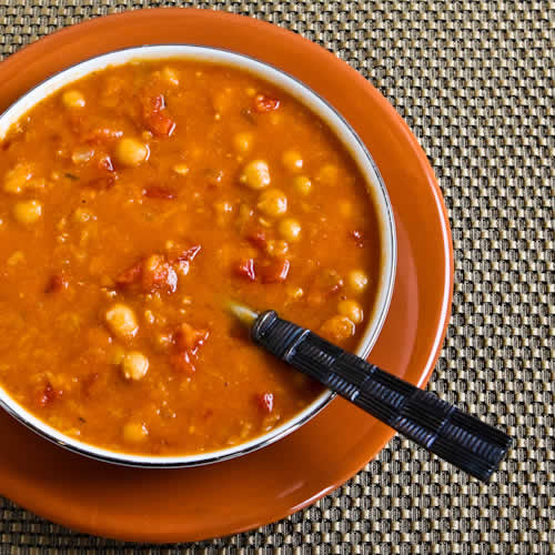 ... Crockpot Red Lentil, Chickpea, and Tomato Soup with Smoked Paprika