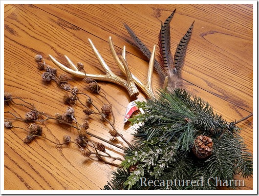faux fur antler wreath 11