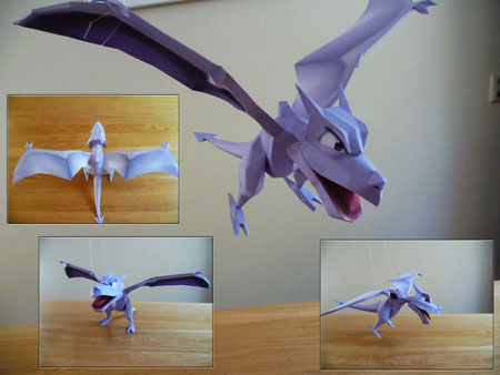 Pokemon Aerodactyl Papercraft