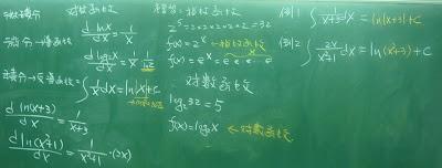 對數函數的積分公式說明