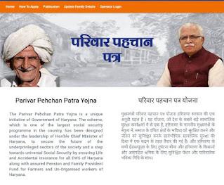 Haryana Parivar Pehchan Patra Application Process