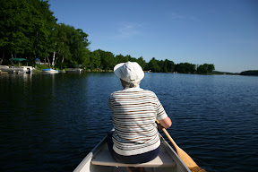 Canoeing with mom on Moore Lake
