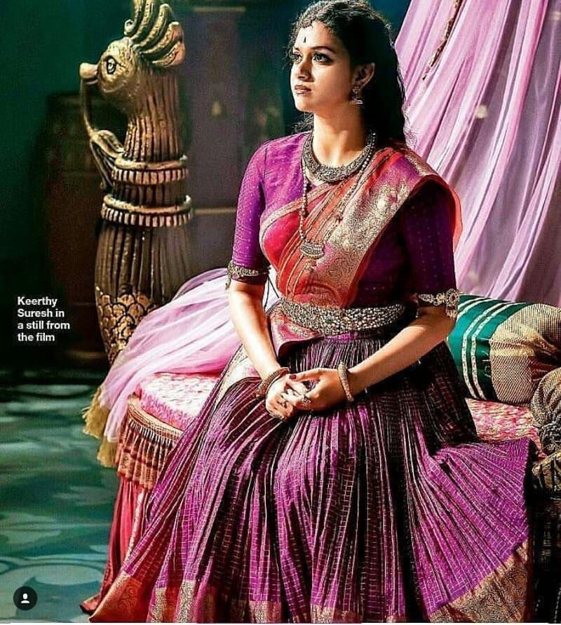 Keerthi Suresh as Mahanati Savitri latest photos Navel Queens