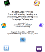 A List of Apps For Voice, Fluency, Hearing, and Swallowing image