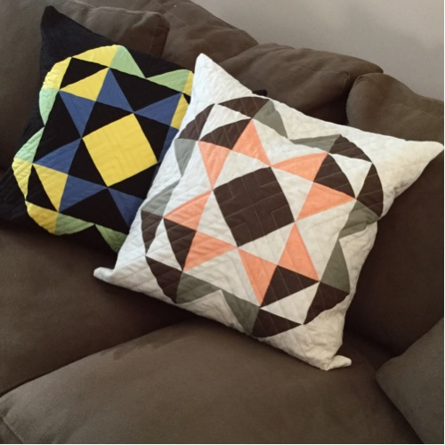 quilted throw pillows by creativeblockquilts