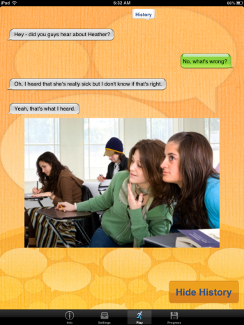 Conversation Builder Teen History