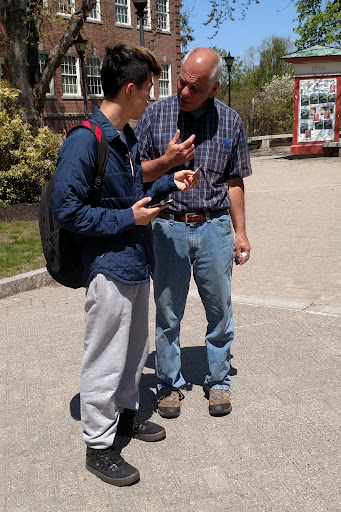"""This is Kevin, an International student from China. He said to Eric, """"In China, we don't have religion."""" He eagerly listened to Eric explain who God is and who we are and how God brings people to Himself!"""