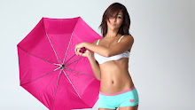 brunettes women models melanie iglesias umbrellas 1920x1080 wallpaper