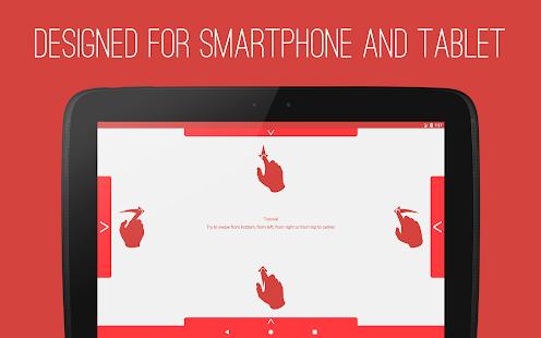 T Swipe Pro Gestures Screenshot