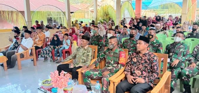 Hadiri Acara Memperingati Hari Besar Nabi Muhammad SAW., Personel Pos 3 Ibu SSK 2 Satgas Yonif RK 732/Banau Berikan Sambutan Kepada Masyarakat Desa Binaan.