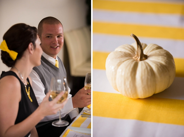 Yellow and black Thanksgiving dinner ideas