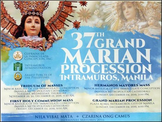 37th Grand Marian Procession 2016