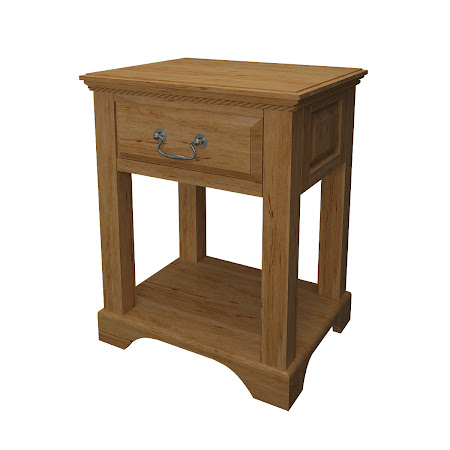 Hudson Nightstand with Shelf, Classical Maple