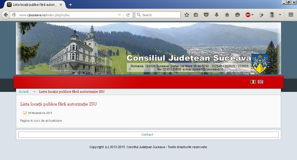 Listă locaţii publice fără autorizaţie ISU - Consiliul Judeţean Suceava