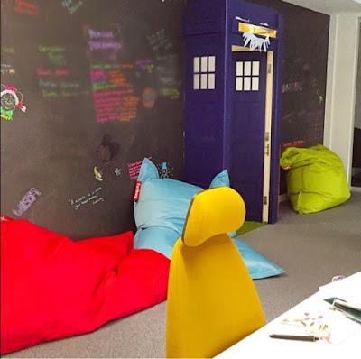 Creative workspace - blackboard wall