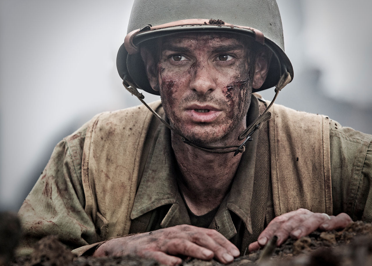 Andrew Garfield stars as 'Desomnd Doss' in HACKSAW RIDGE. (Photo by Mark Rogers / Lionsgate)