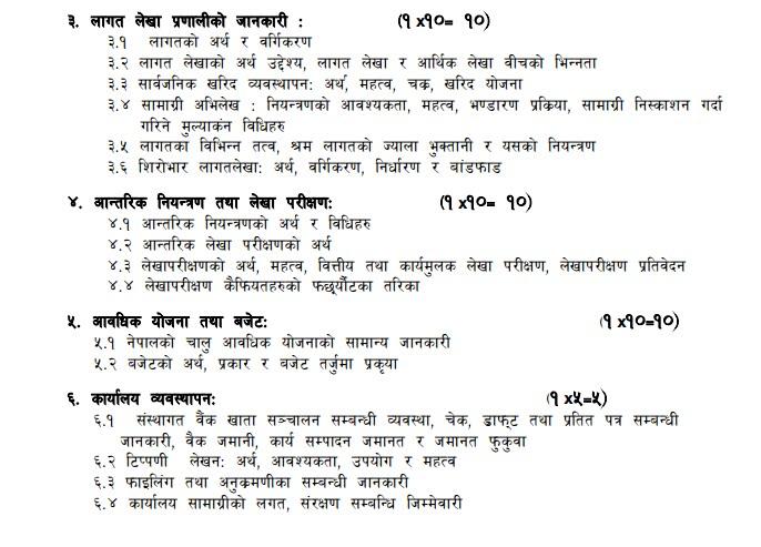 Syllabus For  Nepal Electricity Authority  | Level 5 |   Supervisor