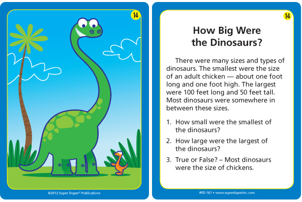 How Big Were the Dinosaurs Card