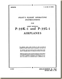 P-39K_L Flight Operating Instructions