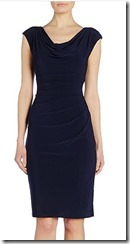 Lauren Ralph Lauren navy sleeveless stretch jersey dress