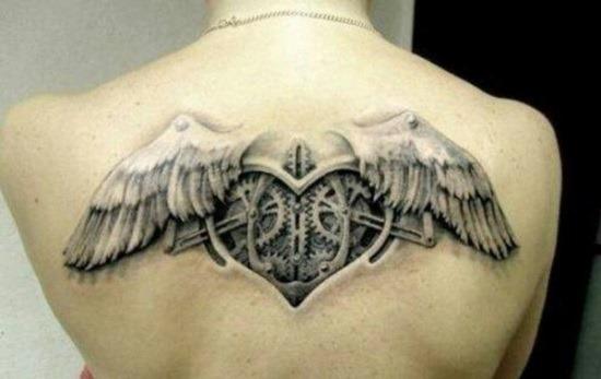 steampunk_coraço_com_asas_de_volta_tatuagem
