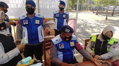 Tim Kesehatan Polres Ciamis Kunjungi Pos Pengamanan Dua Kabupaten