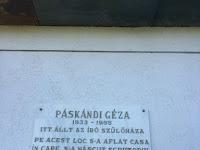 1Emléktábla Páskándi Géza szülőfalujában.JPG
