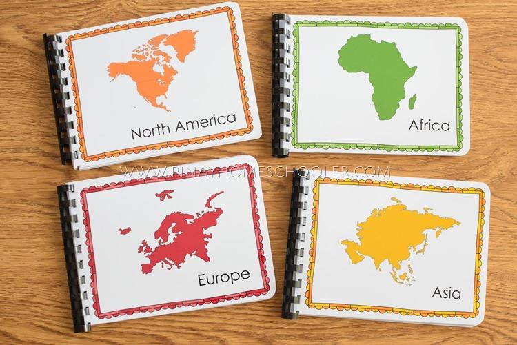 Montessori Geography Folders