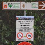 Entrée du Parco Naturale Monti Livornesi, 11 avril 2014. Photo : L. Voisin