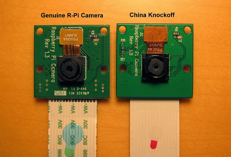 a China knockoff version of R-Pi camera board - Raspberry Pi Forums