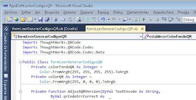 Librería dll, agregar referencia en VB.Net para generar y leer códigos QR con VB.Net