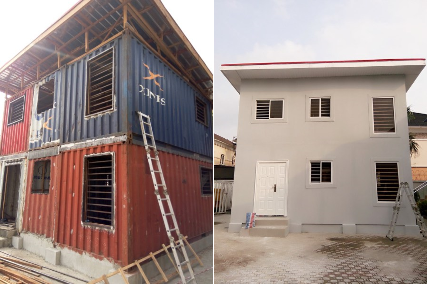 innovative company uses shipping containers to build houses in nigeria