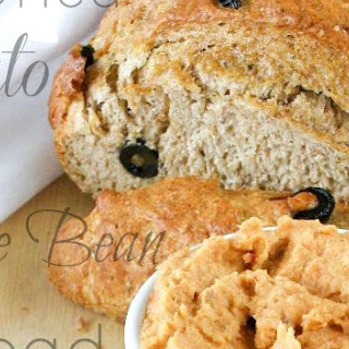 Sun-Dried Tomato and White Bean Spread with Black Olive Rye Bread
