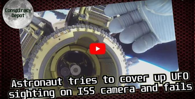 Astronauta da ISS tenta bloquear visão de OVNI em filmagem ao vivo