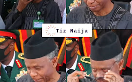 Elrufai Weeps at the Burial of Chief of Army Staff in Abuja