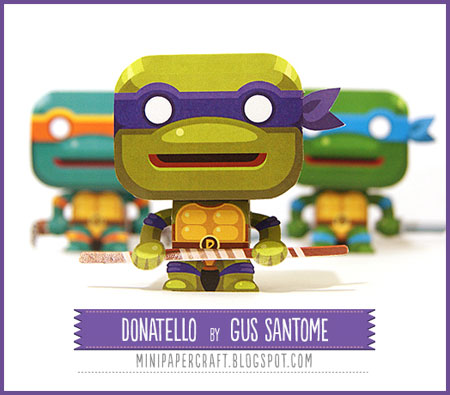 TMNT Mini Donatello Paper Toy