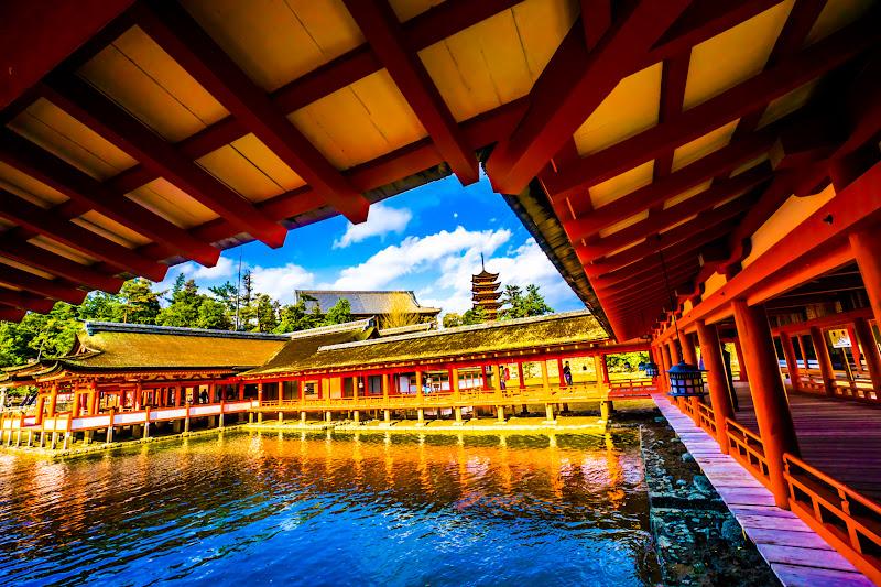 宮島 厳島神社 東回廊 五重塔