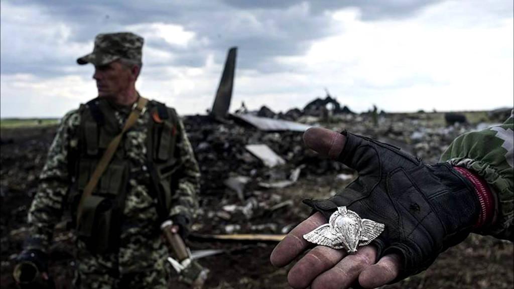 «Ополченцы» на месте сбитого Ил-76 с 40 украинскими десантниками и 9-ю  членами экипажа
