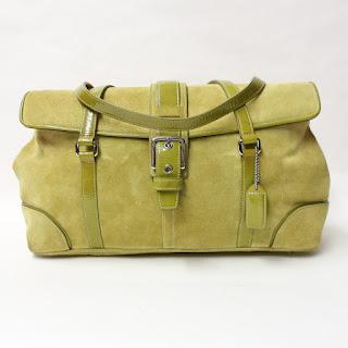 Coach Suede Leather Handbag